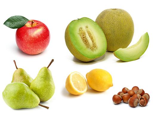 Die typischen Aromen der Rebsorte Chardonnay, Apfel, Birne, Zitrone, Honigmelone, Haselnuss.