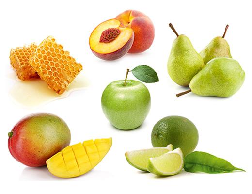 Die typischen Aromen eines weißen Cuvées können sehr vielfältig sein, z.B.: Birne, Honig, Limette, Mango, Pfirsich oder auch Apfel und viele mehr.