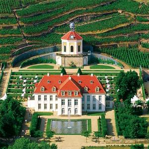 Aufsicht auf  das Schloss Wackerbarth