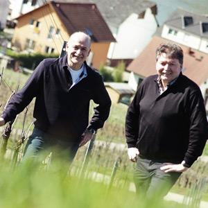Harald und Hubert Apel in ihrem Weinberg