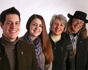 Mark Sanders mit seiner Steffi und den Eltern